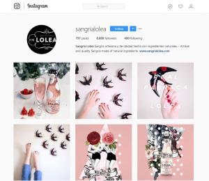 Lolea sangría Instagram